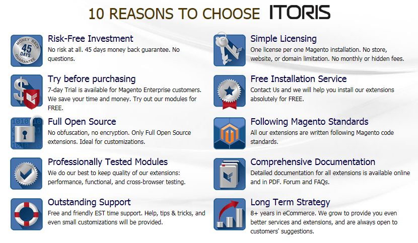10 Reasons to Choose ITORIS
