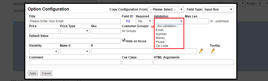 Custom Option Validation in Magento 2