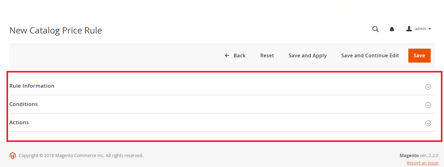 New Catalog Price Rule Settings in Magento 2