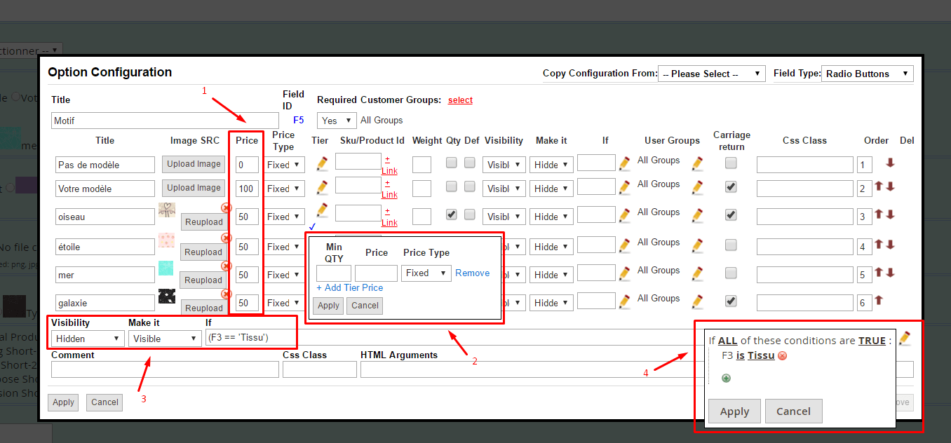 How to edit custom options for different store views in Magento 2