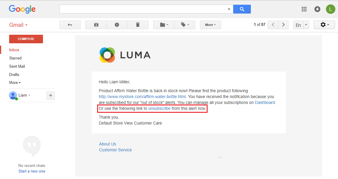 Unsubscribe Links in Email