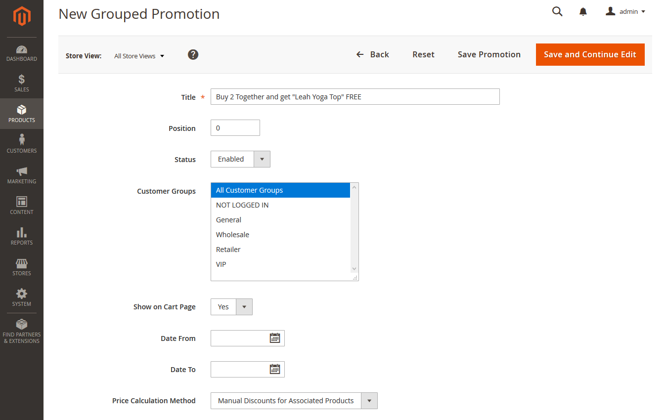 How to Create Grouped Promotions in Magento 2