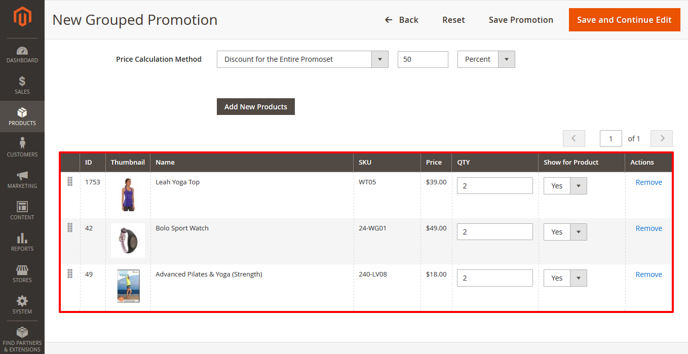 How to Create a Discount for the Whole Promoset in Magento 2