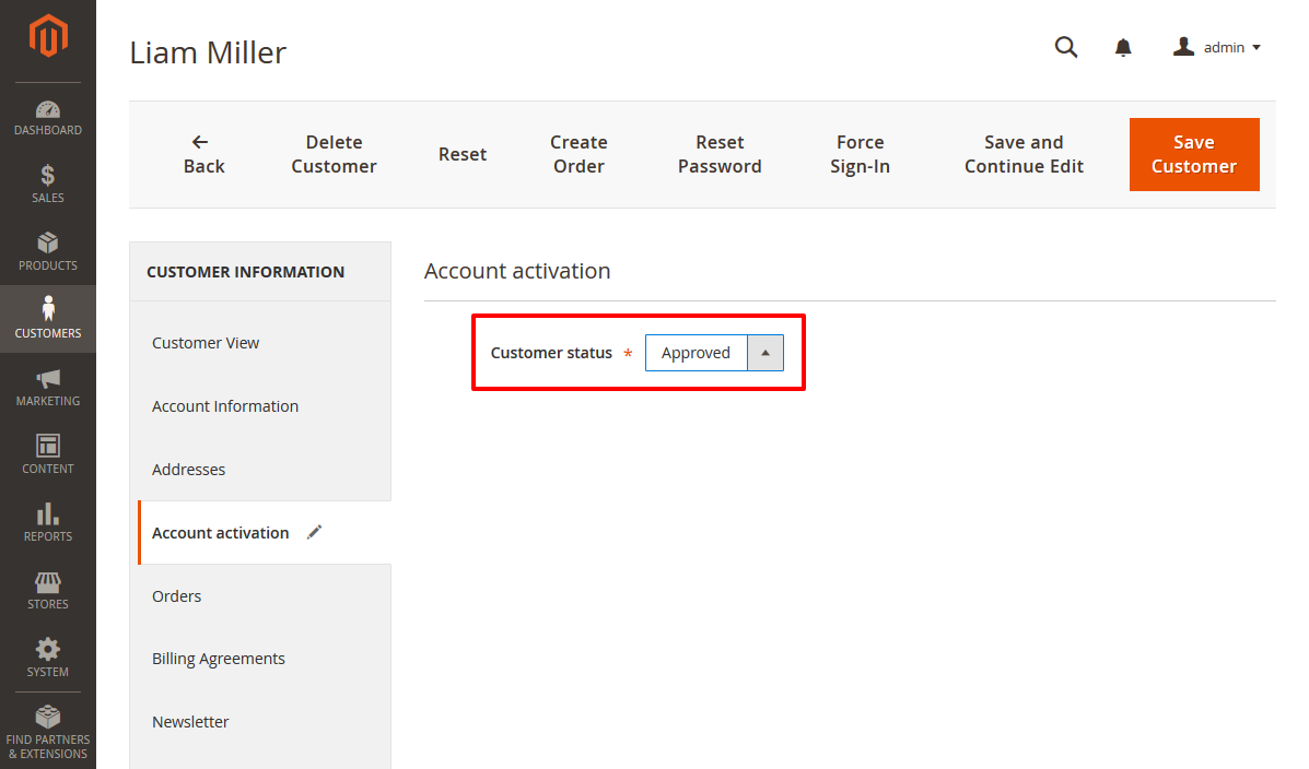 How to Approve Customer Accounts Manually in Magento 2
