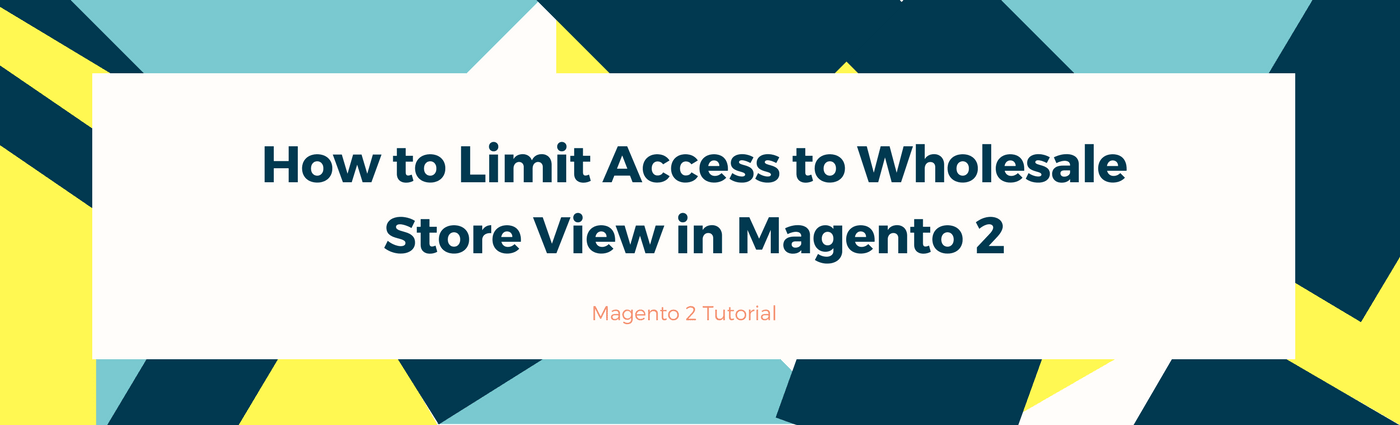How to Limit Access to the Wholesale Store View in Magento 2