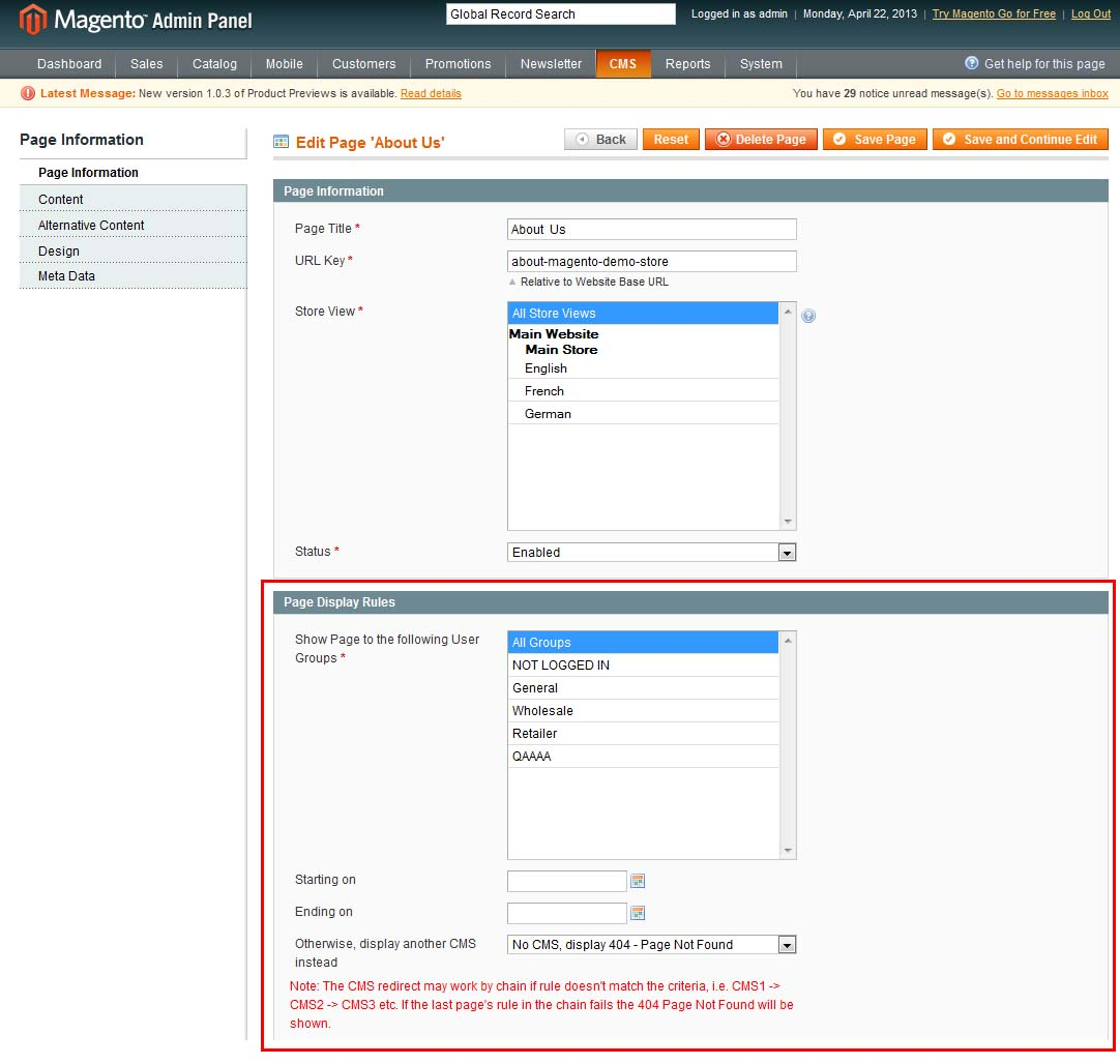 IToris magento product and price visibility rules